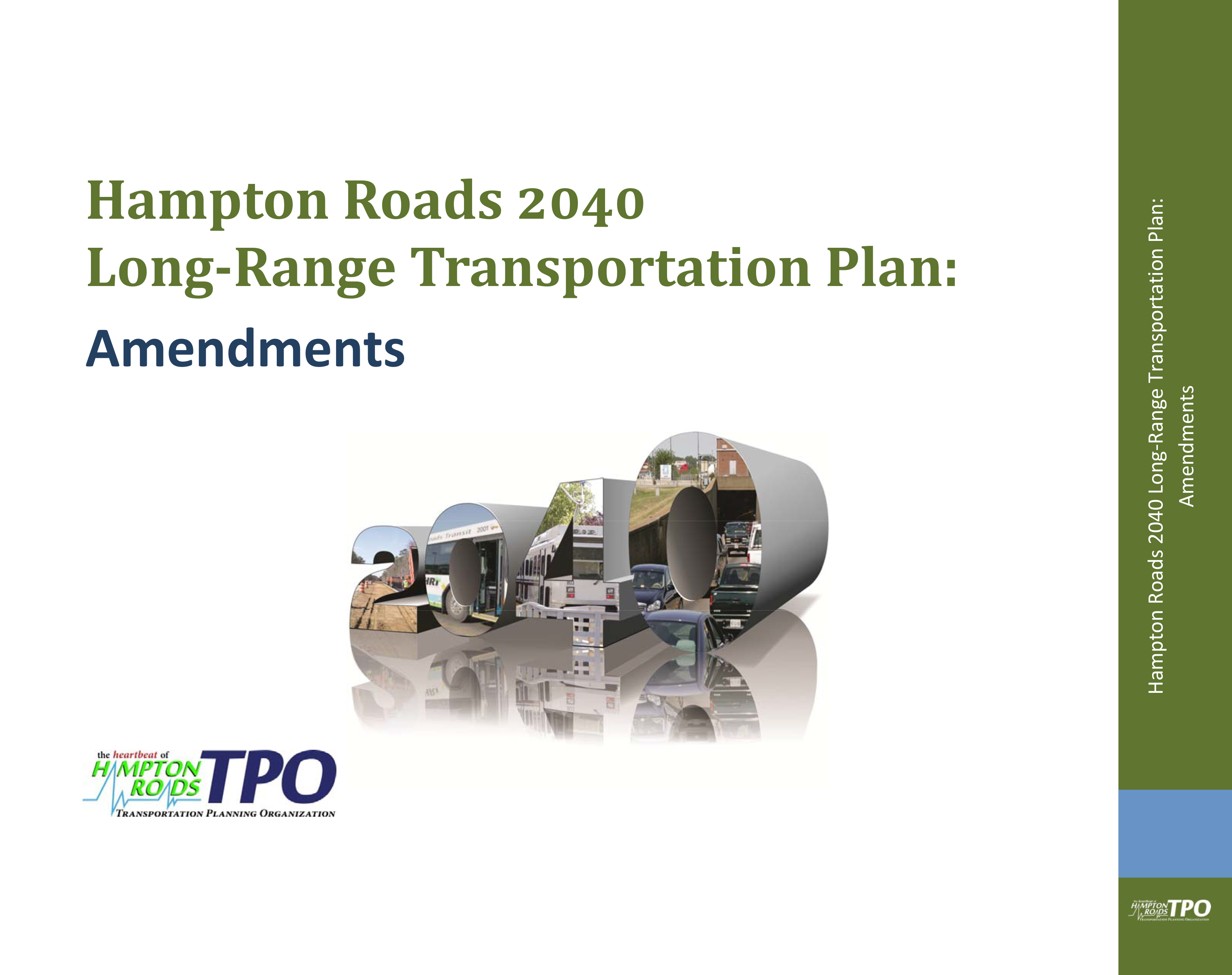 2040 LRTP Amendments Cover