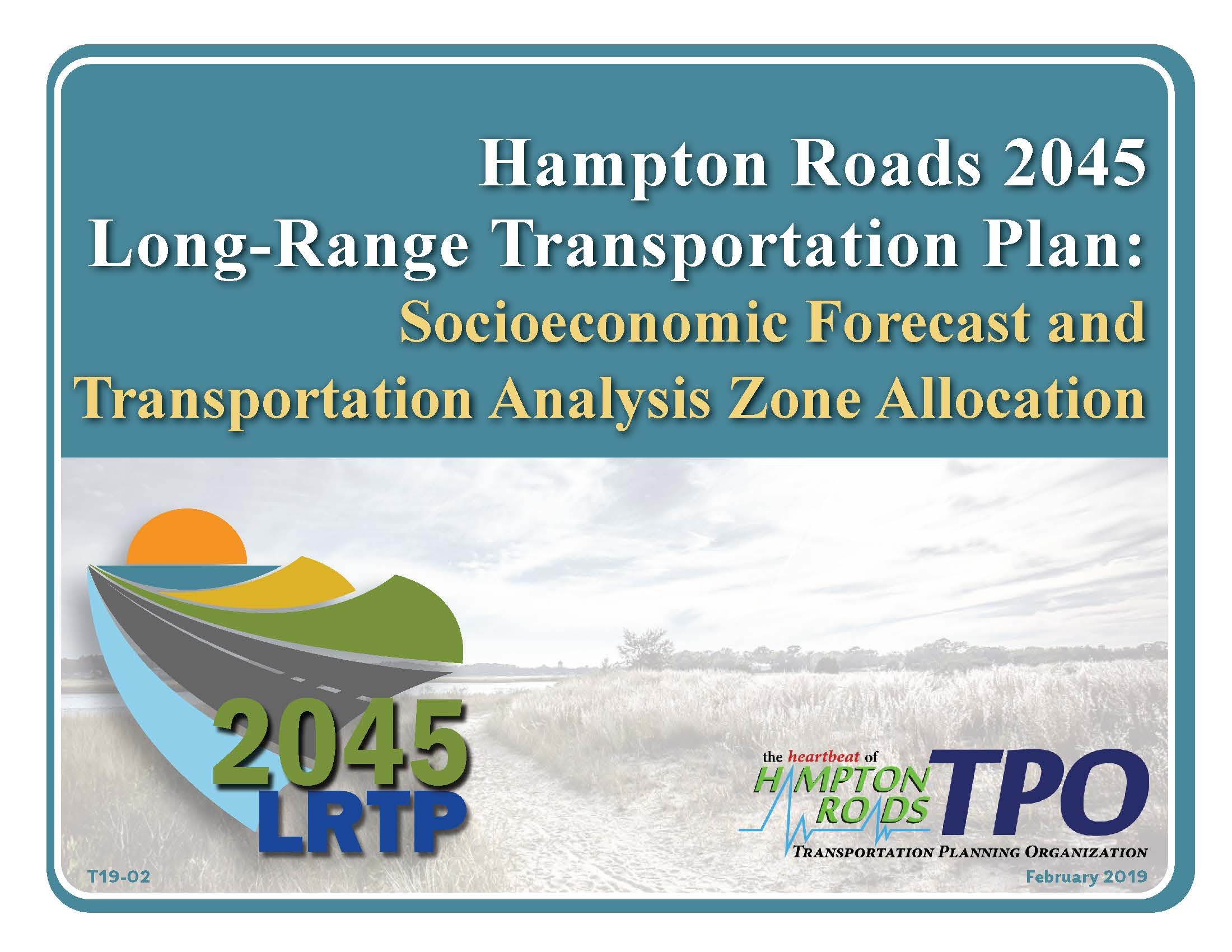 2045 Socioeconomic Forecast and TAZ Report Cover