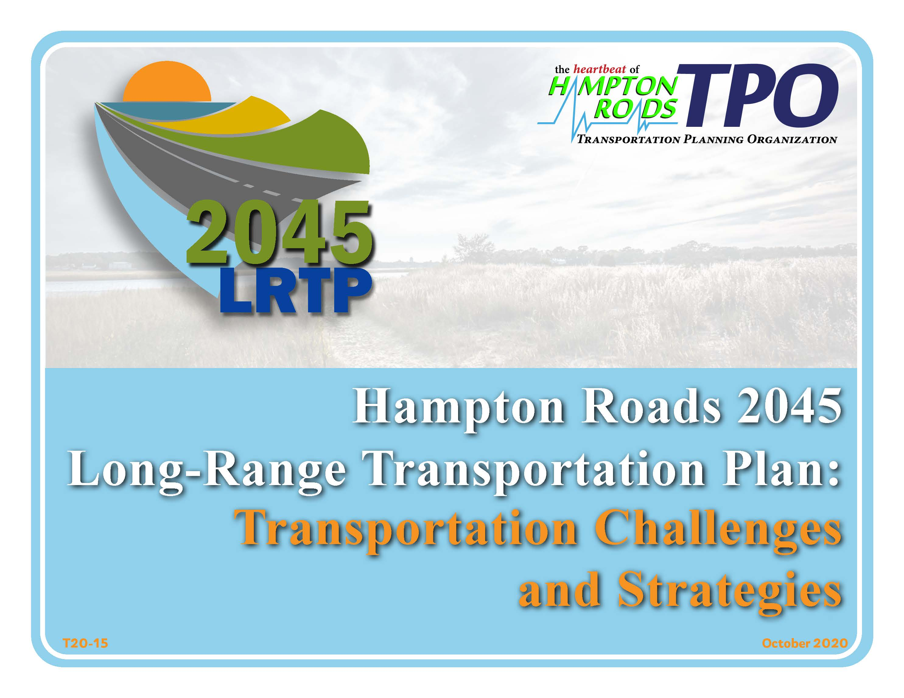 Cover of the 2045 LRTP Transportation Challenges and Strategies