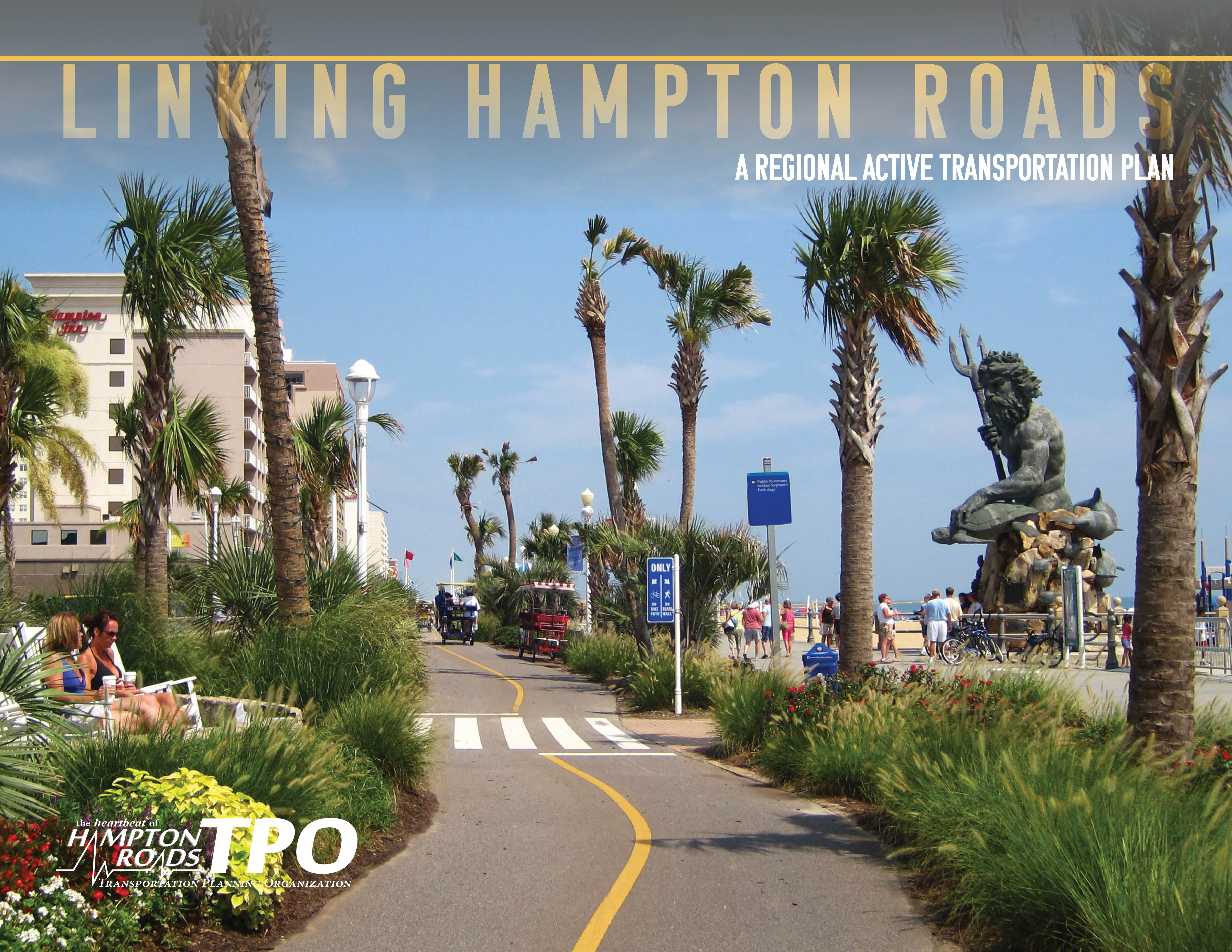 Cover of Regional Active Transportation Plan, Linking Hampton Roads