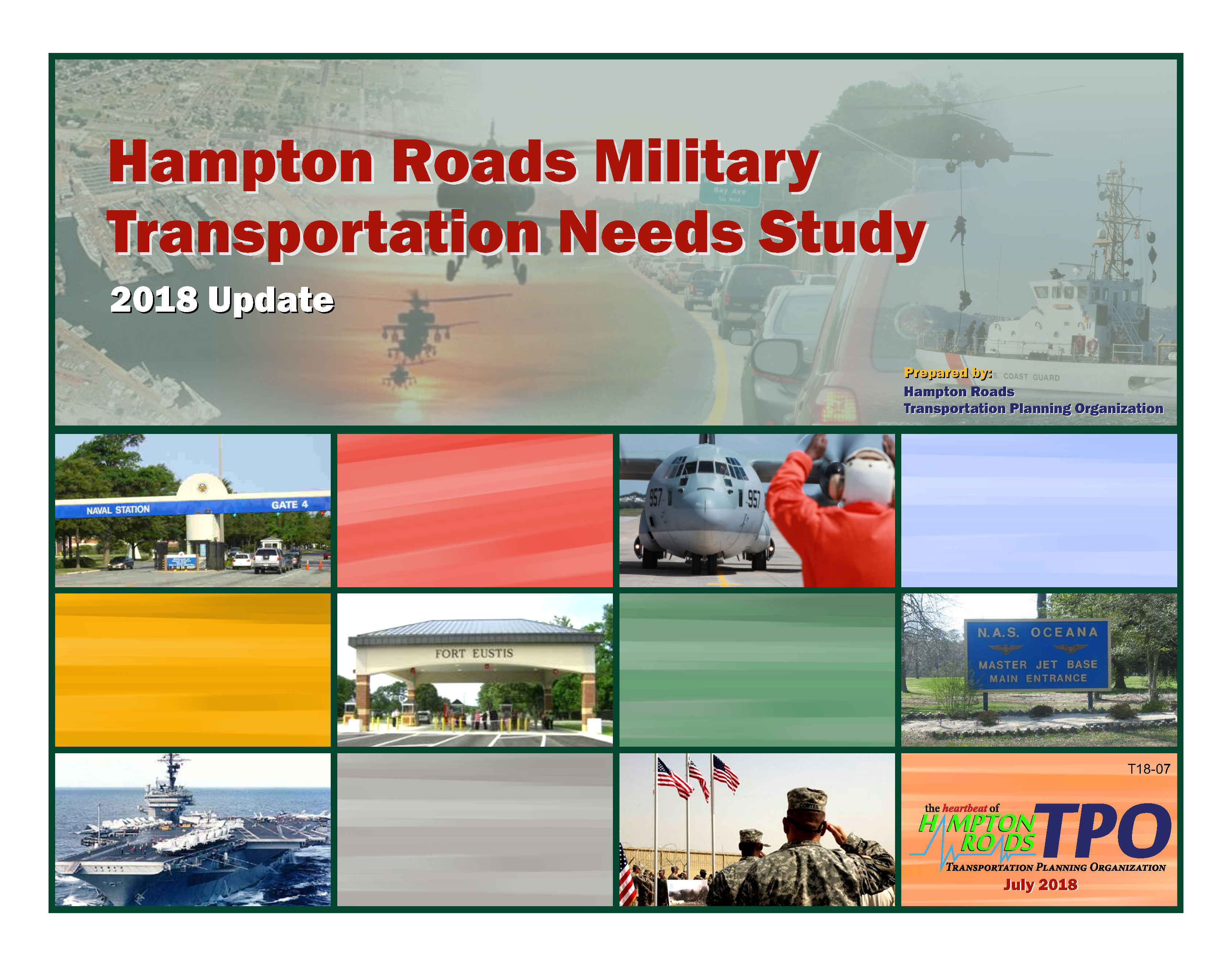 Cover for the Hampton Road Military Transportation Needs Study