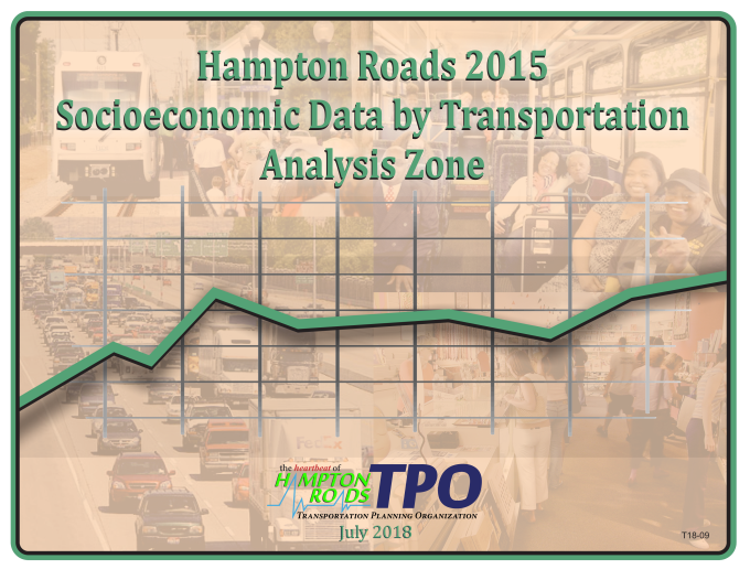 Cover for the Hampton Roads 2015 Socioeconomic Data by Transportation Analysis Zone Report