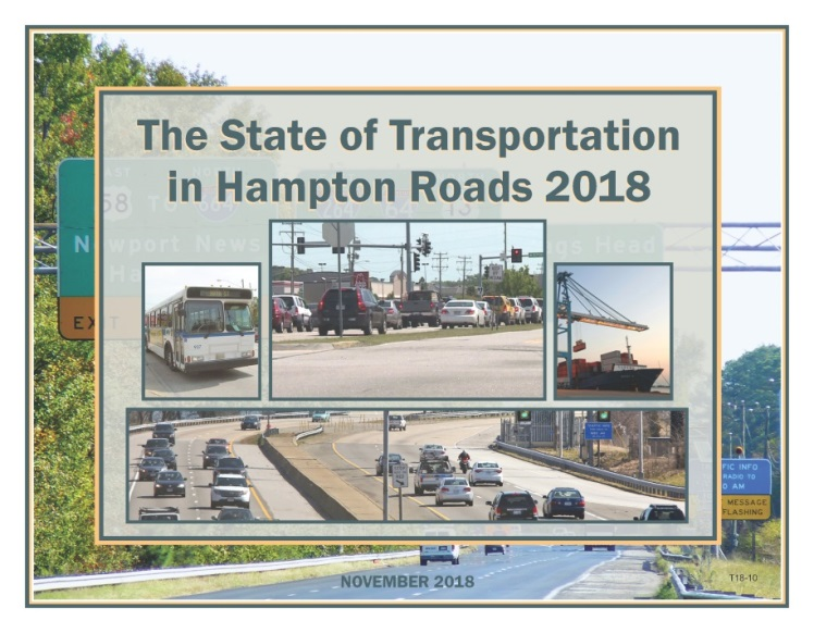 Cover of The State of Transportation in Hampton Roads 2018 Report