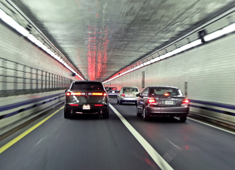 Image of traffic in a tunnel