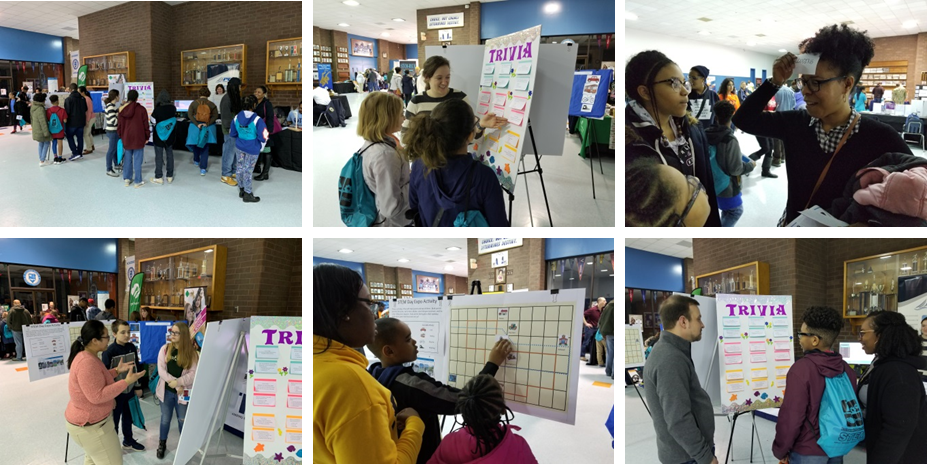 Collage of photos from the STEM Day Expo in Portsmouth