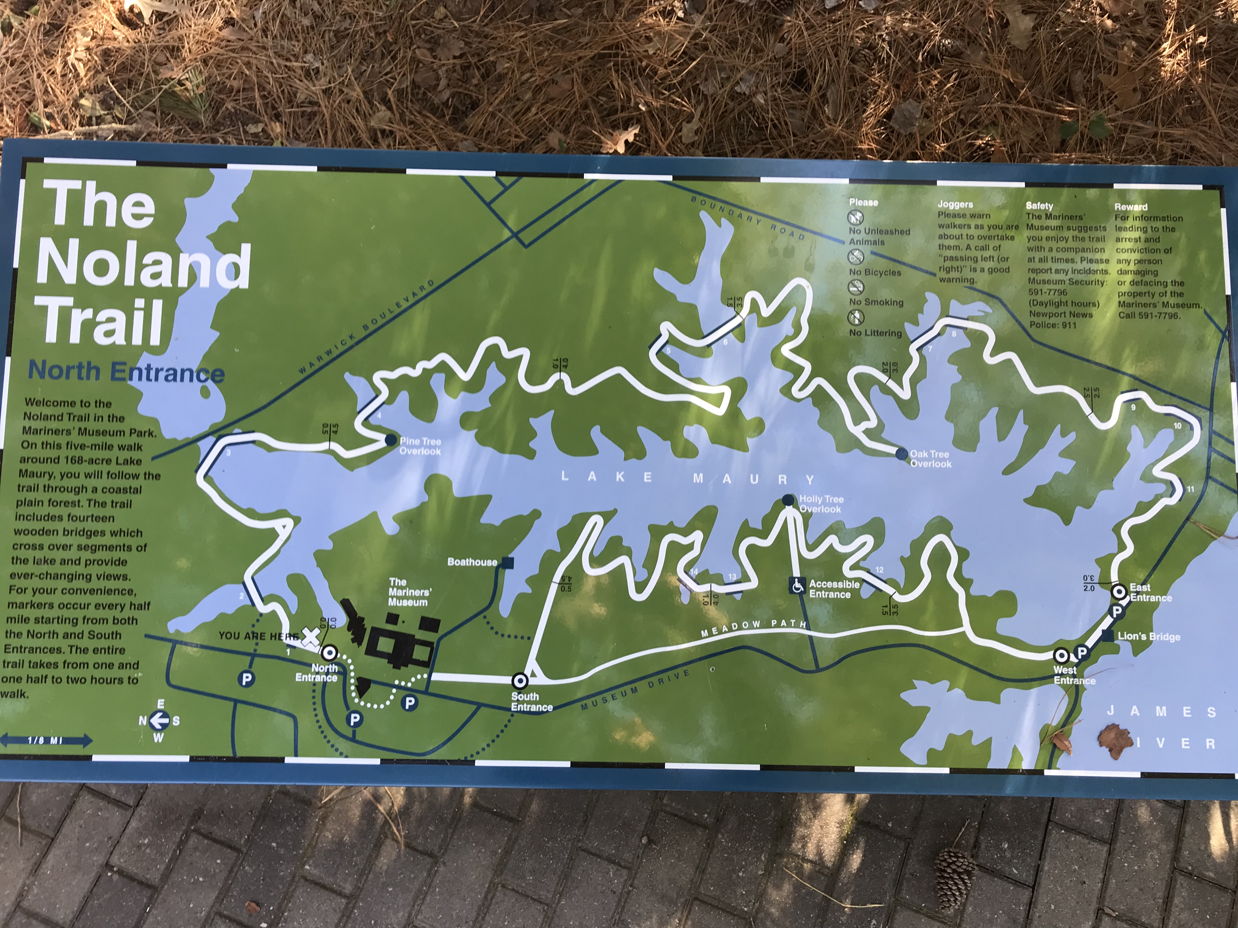 Photo of a Noland Trail Map