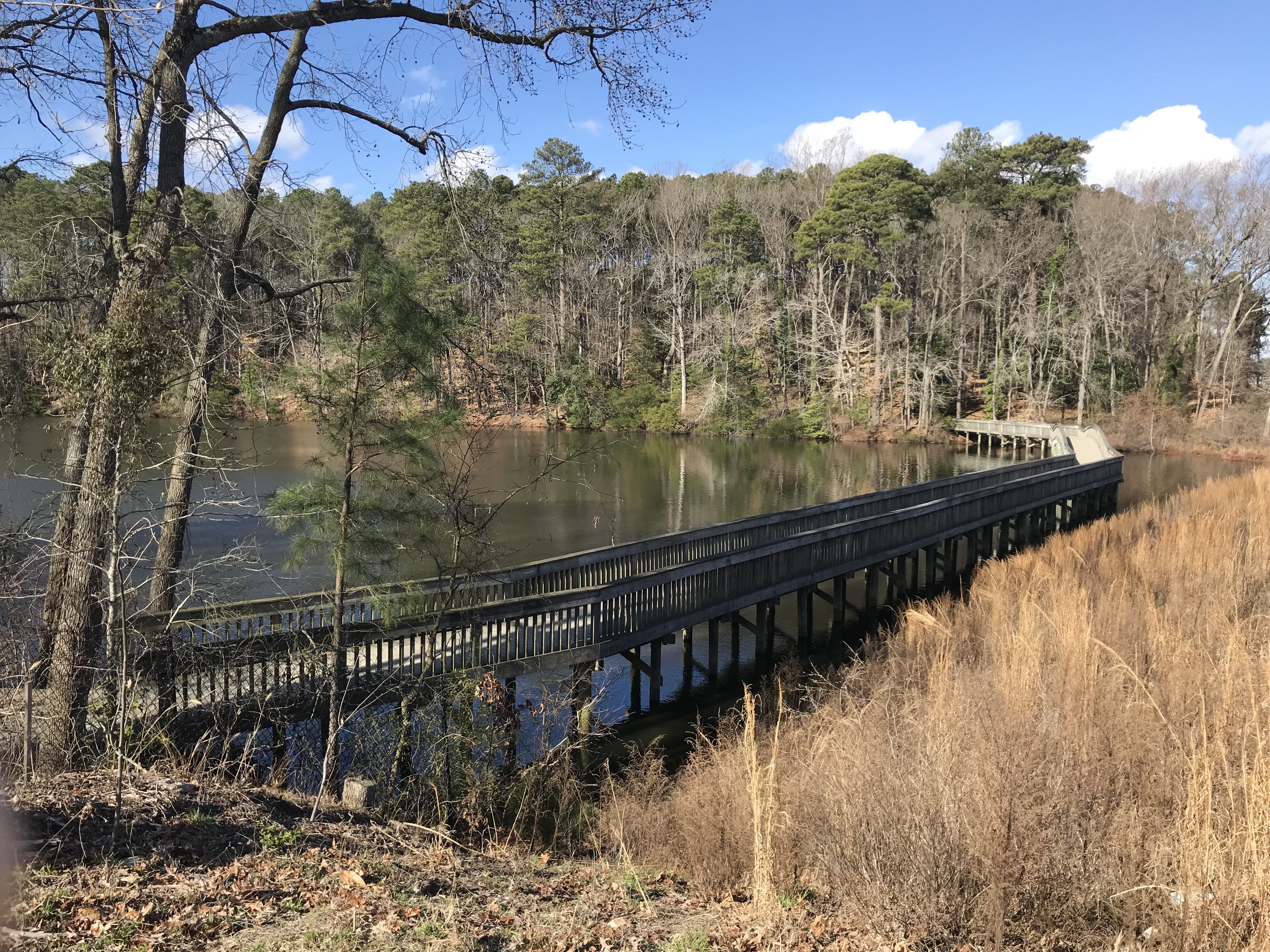 Photo of walkway over portion over Lake Maury on the Noland Trail, near Warwick Boulevard