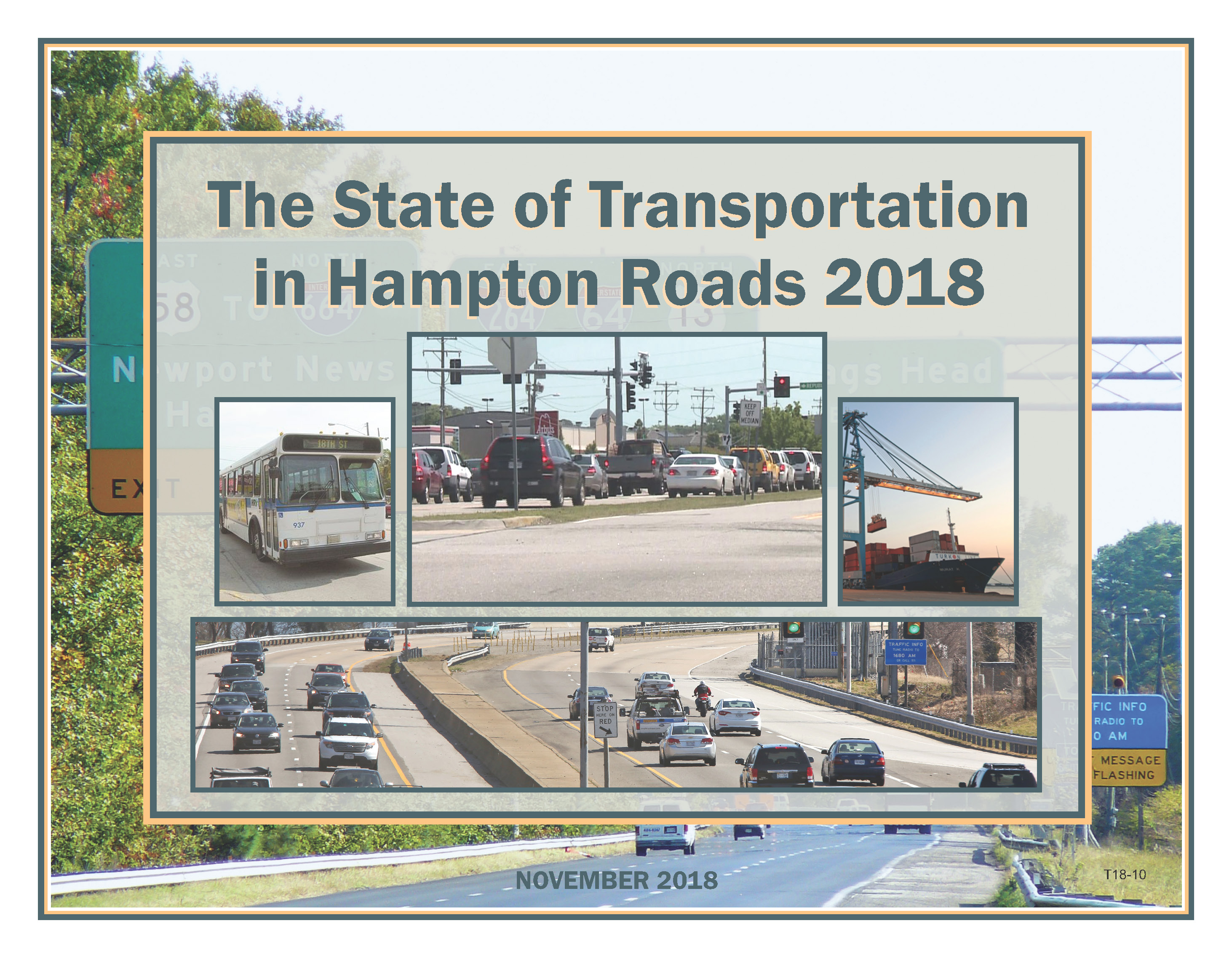 Cover of the State of Transportation in Hampton Roads 2018